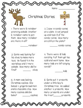 Christmas Activity Pack - Math, Literacy, and Writing