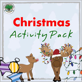 Christmas Activity Pack NO PREP Good Sub Lesson