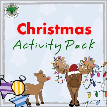 Christmas Activity Pack NO PREP Good Sub Lesson