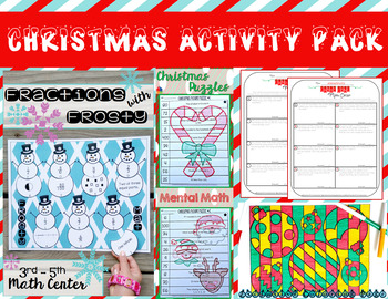 Christmas Activity Pack [Save over 30%]