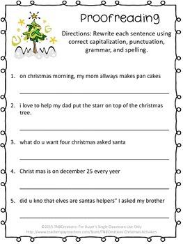 Christmas Writing Activities