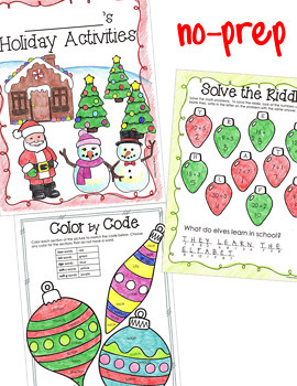 Christmas Activities Packet for 3rd Grade