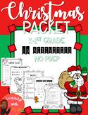 Christmas Activity Packet [No prep] Literacy & Math