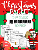 Christmas Activity Packet [No prep] Literacy & Math