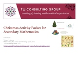 Christmas Activity Packet for Secondary Mathematics