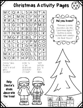Christmas Activity Pages by BusyBeeinGradeThree | TpT