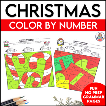 Christmas Activity Parts of Speech Color By Code