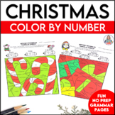 Christmas Coloring Pages | Parts of Speech Color By Number