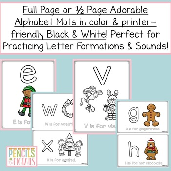 Christmas Activity - Play Dough Mats - Letter Formation and Alphabet Recognition