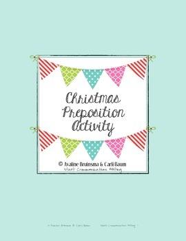 Christmas Writing Activity - Preposition Practice (Common