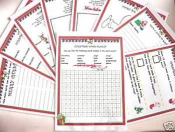Christmas Activity Sheets - set of 10