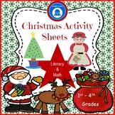 Christmas Activity Sheets - Literacy and Math Fun