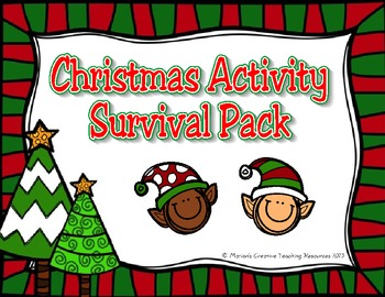 Christmas Activity Survival Pack {American Version}