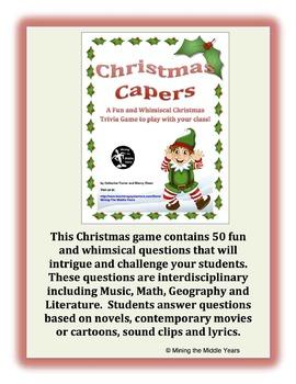 Christmas Activity - Trivia Game