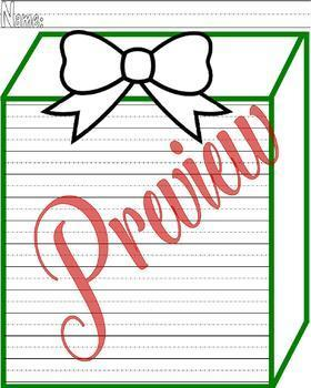 Christmas Activity Worksheet Packet : 10 pages : Lined Handwriting Paper