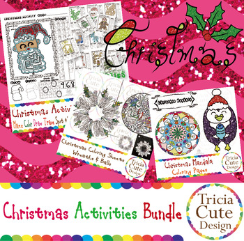 Christmas Coloring Sheets and Activity Bundle Christian ...