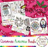 Christmas Coloring Sheets and Activity Bundle Christian Holiday