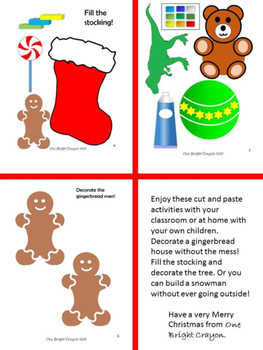 Christmas Activity for Young Children - Cut, Paste, and Decorate