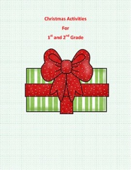 Christmas Activities first and second grade - Word search,