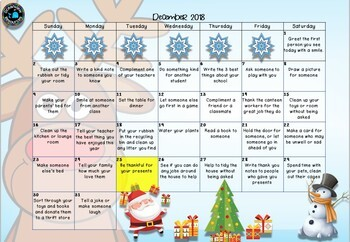 Christmas Acts of Kindness- for the month of December