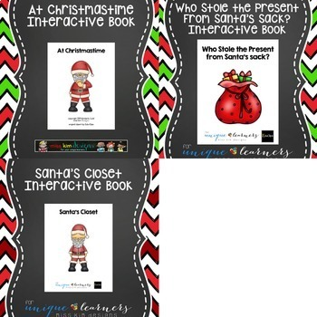 Christmas Adapted Book Bundle: 7 Adapted Books for Special Education
