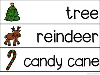 Christmas Adapted Book & Student Book for Early Childhood Special Ed