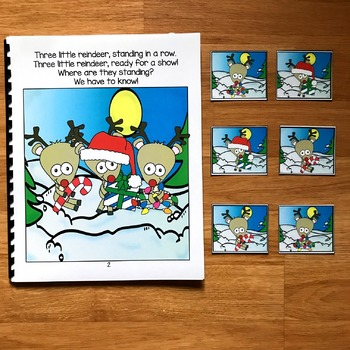"Christmas Adapted Book:  ""Three Little Reindeer"""