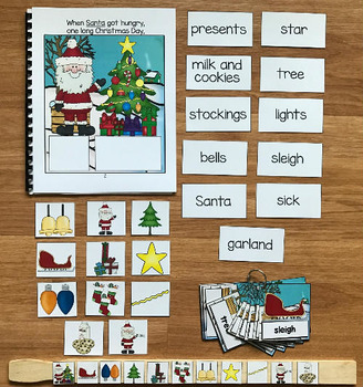"""Christmas Adapted Book--""""When Santa Got Hungry"""""""