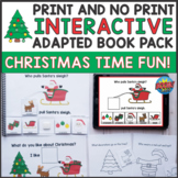 Christmas Interactive Adapted Book - WH Questions