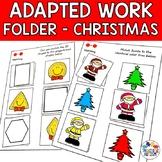 Christmas Adapted Work Folder