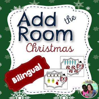 Christmas Add & Count the Room: Spanish Bilingual