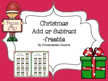 Christmas Add or Subtract -freebie