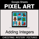 Christmas - Adding Integers - Google Sheets Pixel Art