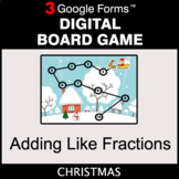 Christmas: Adding Like Fractions - Digital Board Game   Go