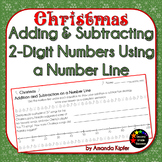 Christmas Adding and Subtracting 2-Digit Numbers on a Number Line