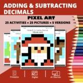 Christmas: Adding and Subtracting Decimals Pixel Art Myste