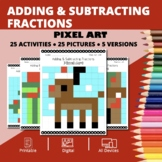 Christmas: Adding and Subtracting Fractions Pixel Art Myst