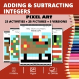 Christmas: Adding and Subtracting Integers #2 Pixel Art My