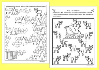 Christmas Addition Fun Worksheets and Activities