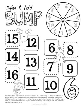 Christmas Addition Fact Fluency Games