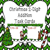 2 Digit Addition Christmas Task Cards 2nd Grade Christmas Math Center Activity