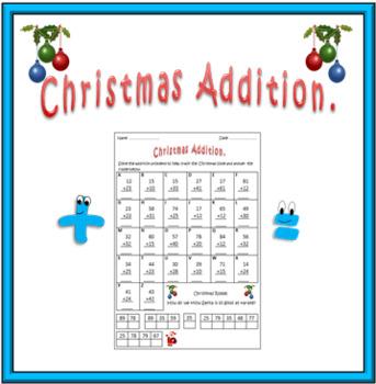Christmas Math Worksheet: Addition