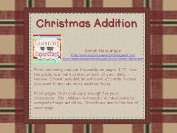 Christmas Addition Activities (sort and roll & color)