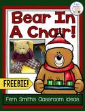 Christmas Bear in a Chair Writing Journal Freebie