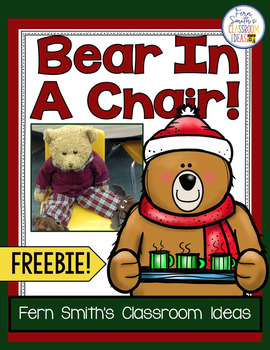 FREE Christmas Bear in a Chair Writing Journal