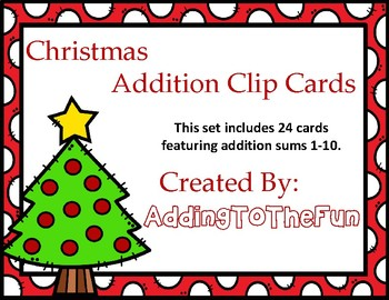 Christmas Addition Clip Cards