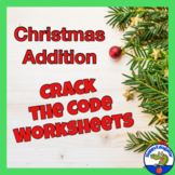 Christmas Addition Code Fun Practice Sheets