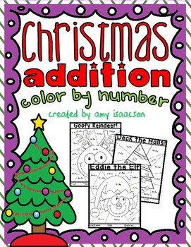 Christmas Addition Color by Number