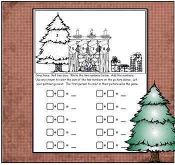 Addition Dice Game ~ Christmas Edition