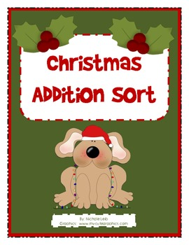 Christmas Addition Fact Sort